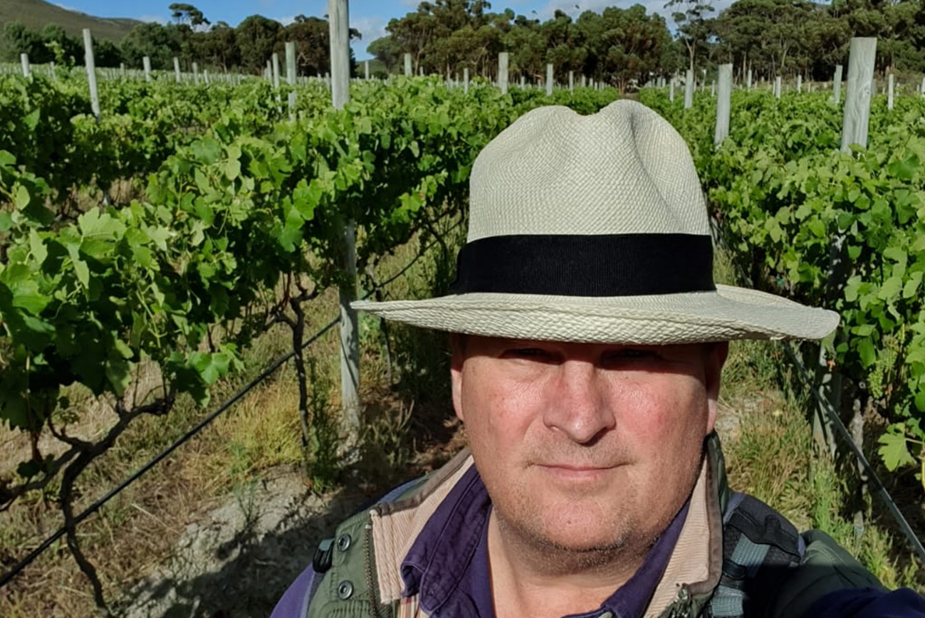 Bruce Jack in the vineyards